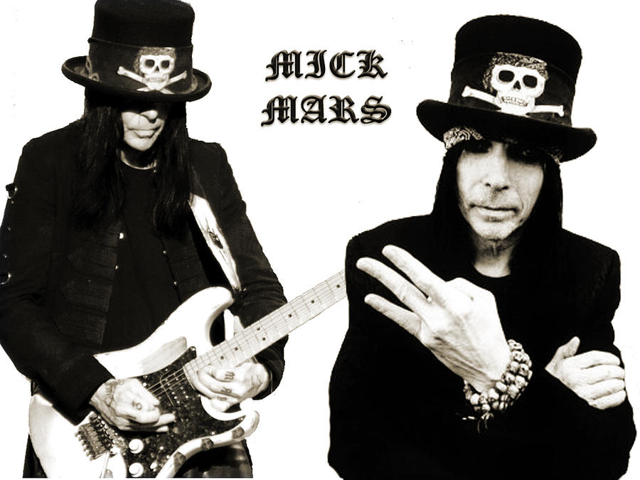 Mick Mars Black And White By Fili Laufeyson On DeviantArt
