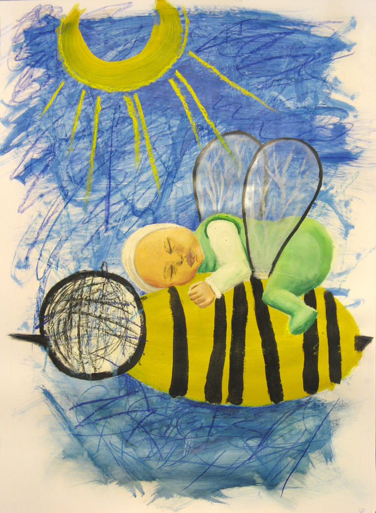 baby on bee by Gorilli