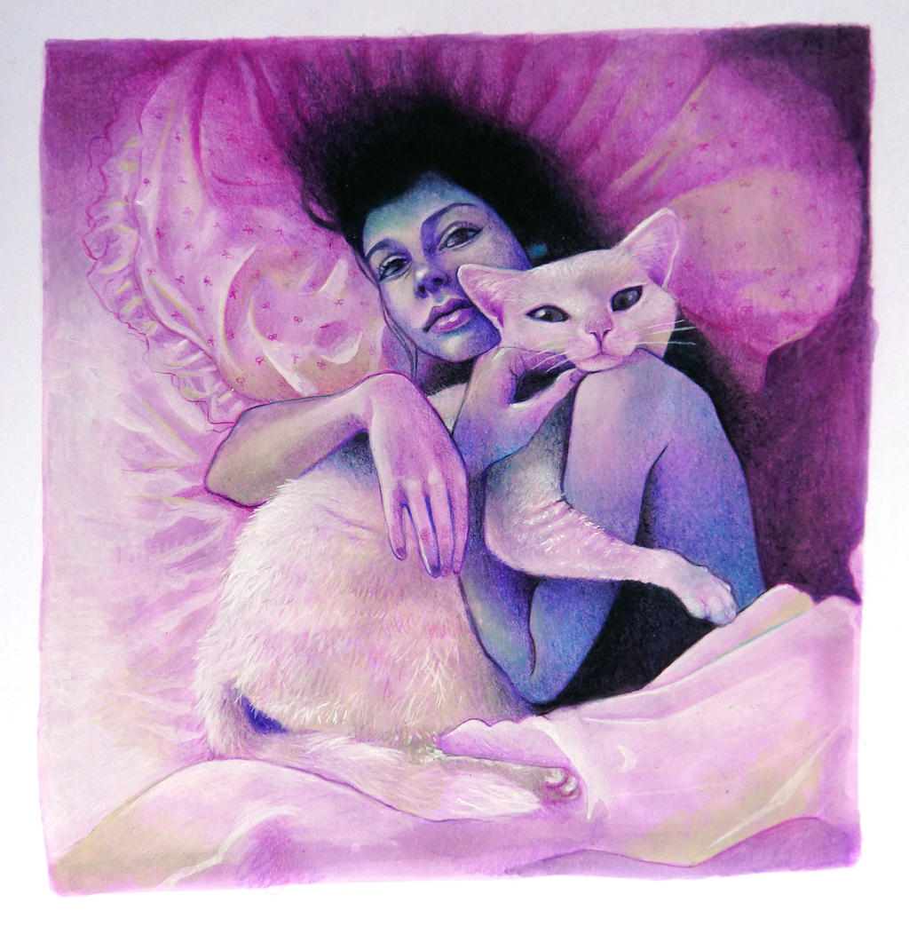 Nina con Gato by Psartangela