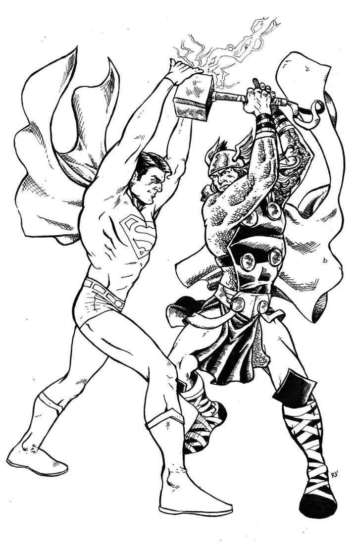 hulk vs superman coloring pages - photo#11