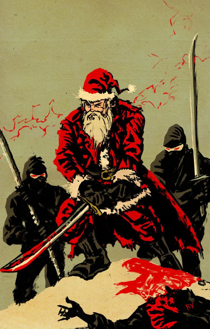 Santa vs Ninjas by RamonVillalobos