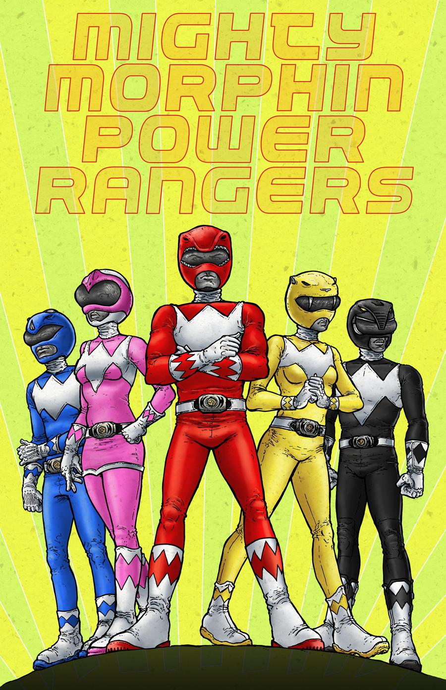 Power Rangers by RamonVillalobos