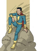 Captain Marvel Jr. by RamonVillalobos