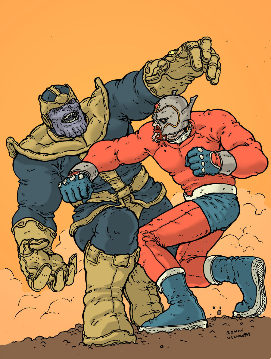 Thanos vs Orion by RamonVillalobos