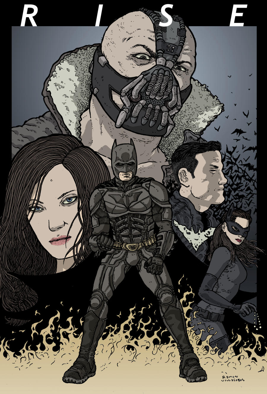 Dark Knight Rises by RamonVillalobos