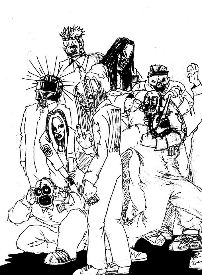 How To Draw Slipknot Slipknot Coloring Pages