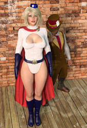 Power Girl and the Mad Hatter by member9