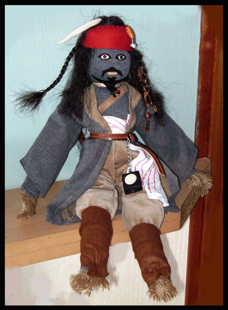 Jack Sparrow Voodoo Sockie by DarkDollArt