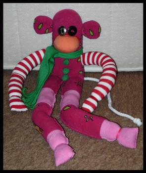 Pink Monkey Sockie
