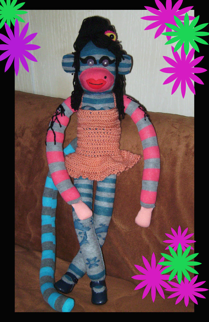 Amy Winehouse SockMonkey by DarkDollArt