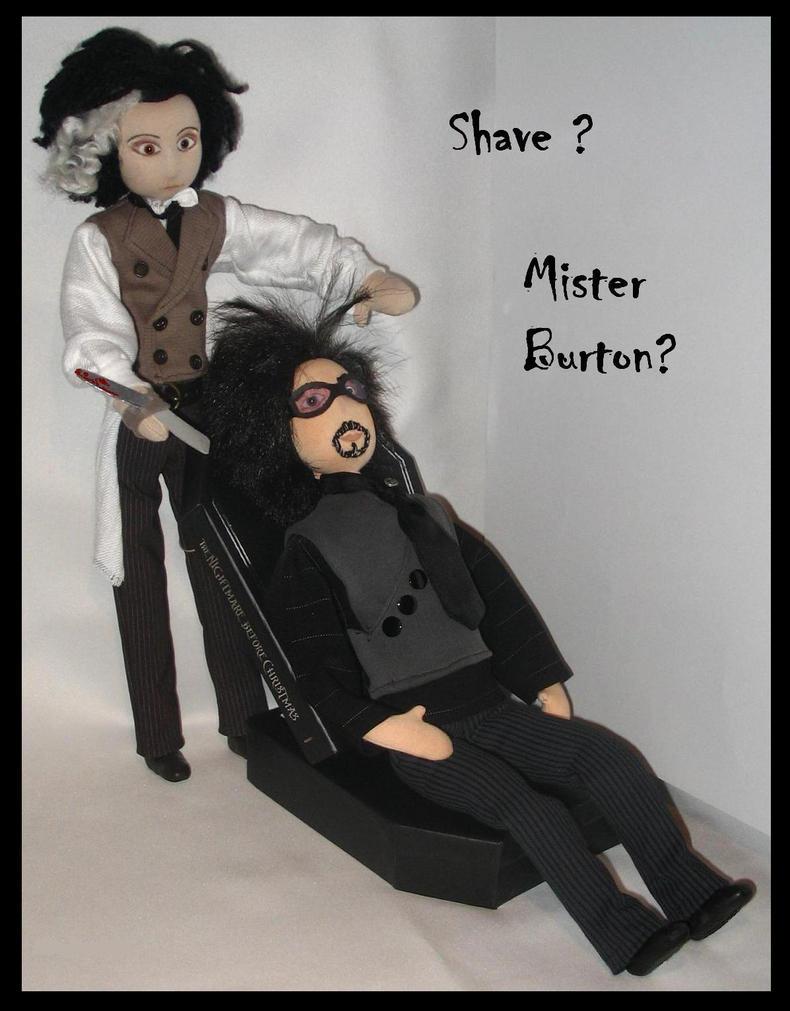 Shave mister Burton ? by DarkDollArt