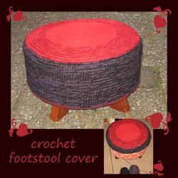 Crochet Footstool Cover