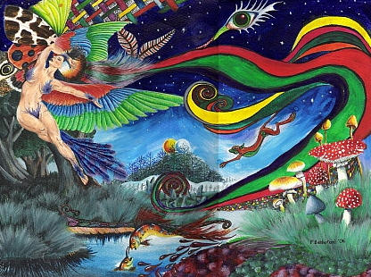 Psilocybin daydream by ApodemusSylvaticus on DeviantArt