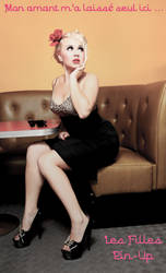Les Filles Pin-Up - My Lover Left Me Here Alone by David-Michaels