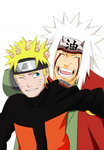 Naruto and Jiraiya