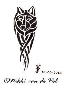 Tiny wolf tattoo by Nikki-vdp