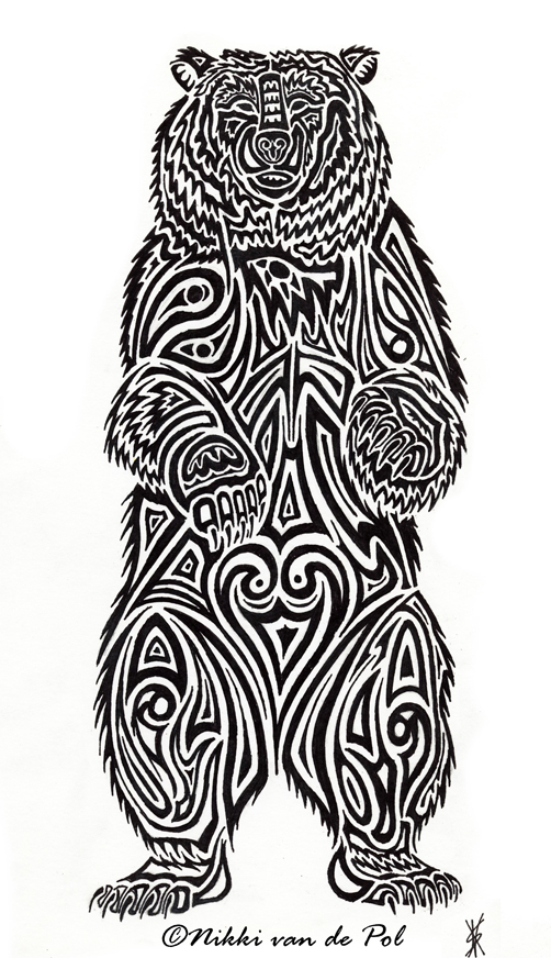 Bear Tribal by Nikkivdp on deviantART