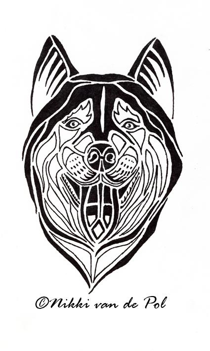 husky tribal by nikki vdp on deviantart. Black Bedroom Furniture Sets. Home Design Ideas