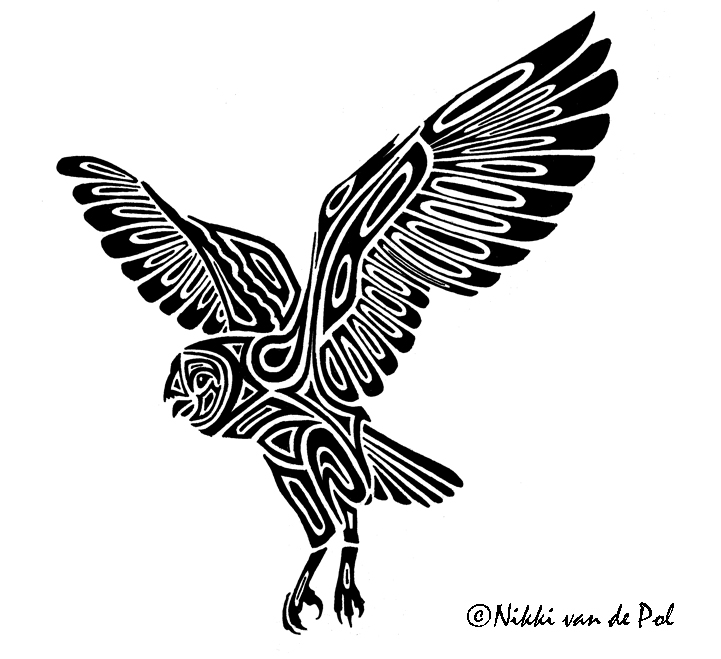 Barn owl tribal by nikki vdp on deviantart for Tribal owl tattoo