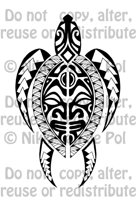 polynesian inspired turtle tattoo commission by nikki vdp on deviantart. Black Bedroom Furniture Sets. Home Design Ideas