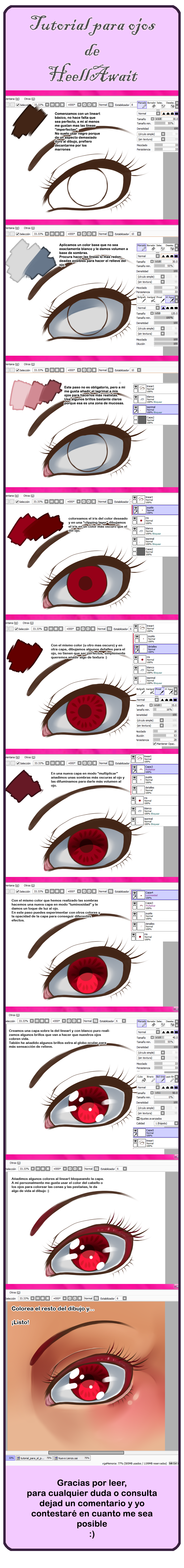 Tutorial para colorear los ojos by HellAwaitsArts
