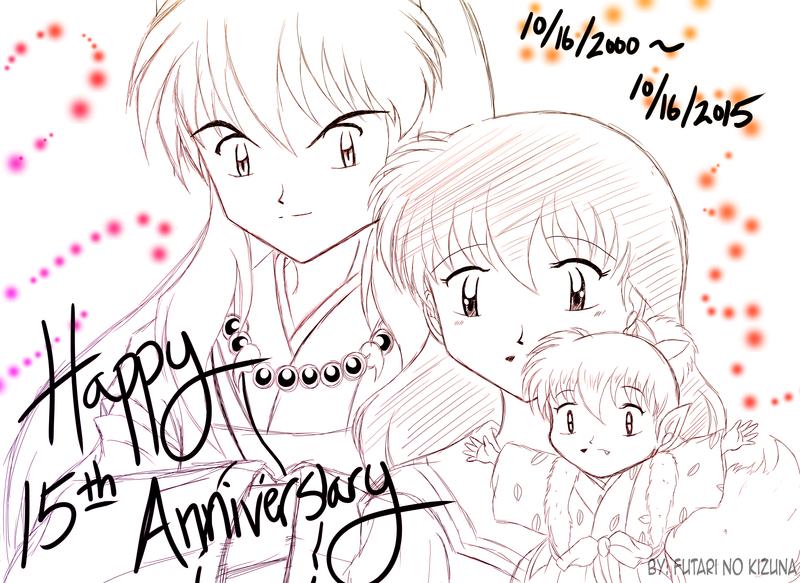Doodle ::Happy 15th Anniversary Anime Inuyasha:: by Futari-no-Kizuna