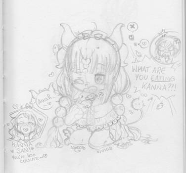 What are you eating Kanna?! by Selier23