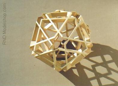 Icosahedron 'Woven Pentagons' by RNDmodels
