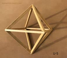 Octahedron (U-5) Wood Frame Model