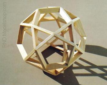 Icosadodecahedron wood frame by RNDmodels