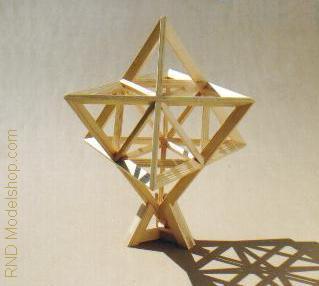 Star Tetrahedron wood by RNDmodels
