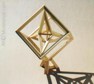 Stellated Tetrahedron in Cube by RNDmodels
