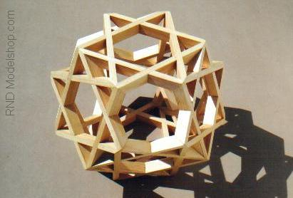Octahedron of 8 Hexagrams by RNDmodels