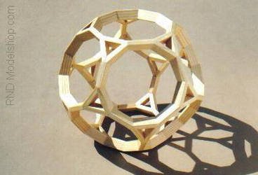 Wooden Truncated Dodecahedron by RNDmodels