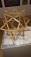 Wood Geometric Sculpture at the Appleton Museum