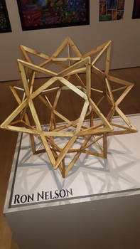 Wood Geometric Sculpture at the Appleton Museum