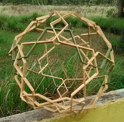 all wood Geometric Sculpture by RNDmodels