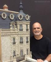 Miniature 1:12 Scale Hotel Exterior Model