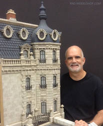 Miniature 1:12 Scale Hotel Exterior Model by RNDmodels