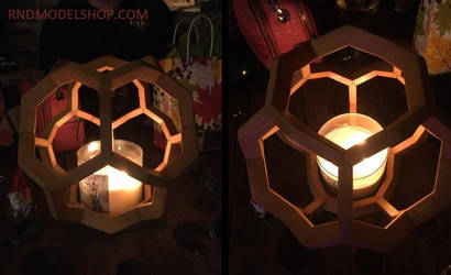 Geometrics with LED Battery Candles