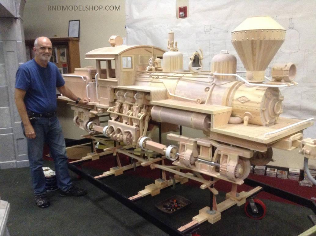 Wood Train Brass Expo2