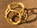 Wood Bent Dodecahedron Sculpture (IS-01) by RNDmodels