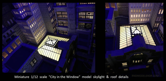 Miniature Model Skylight Detail 1
