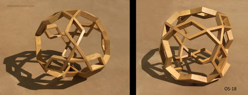 Cube of 12 Rhombi and 8 Triangles (OS-18) by RNDmodels