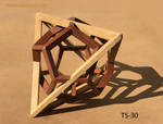 Tetrahedron - Dodecahedron Sculpture (TS-30) by RNDmodels