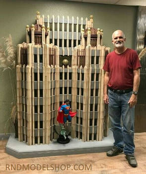 Miniature Superman Daily Planet 1:12 scale