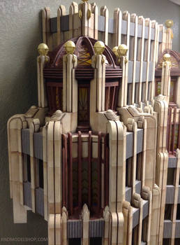 Superman Daily Planet Wood Miniature Corner Detail