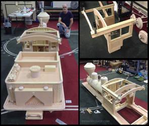 Wood Train Cab Construction (one quarter scale)