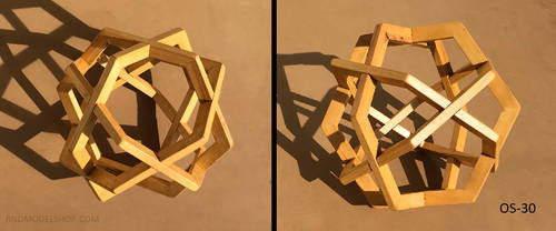 Cube of 4 Hexagons (OS-30) by RNDmodels