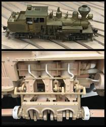 Wood Model Pistons Crank Details